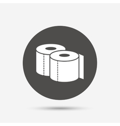 Toilet papers sign icon WC roll symbol vector image vector image