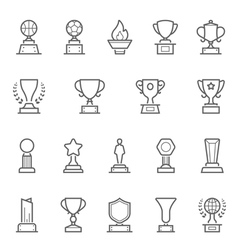 Trophy Awards icons set vector image vector image