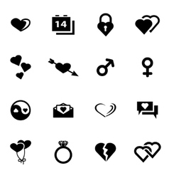 black love icon set vector image vector image
