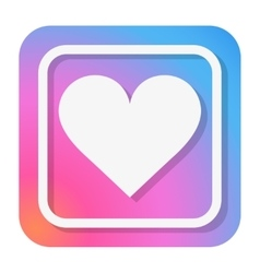 Heart Icon in trendy color vector image vector image