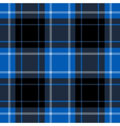 seamless blue tartan - black and white stripes vector image