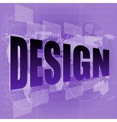 words design on digital screen information vector image vector image