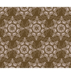 Abstract ornament flower pattern vector image