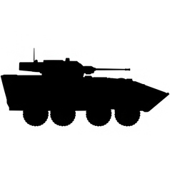 armoured personnel carrier silhouette vector image vector image