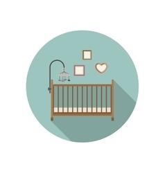 Baby crib icon vector