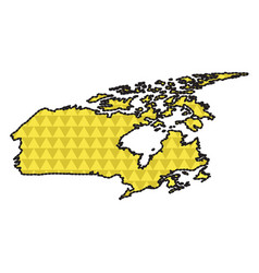dotted line map of canada vector image