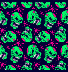seamless pattern zombie vector image vector image
