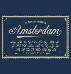 a luxury script font vector image