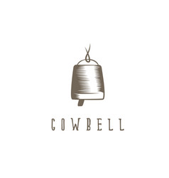 Abstract cowbell with rope design template vector