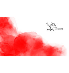 Abstract hand painted red watercolor vector