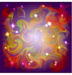 Abstract space colors background with light stars vector image