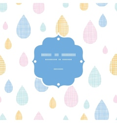 Abstract textile colorful rain drops frame vector image