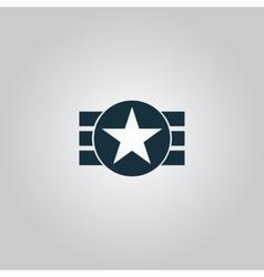 Abstract USA Flag Design vector image