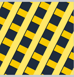 abstract yellow cross line pattern image vector image