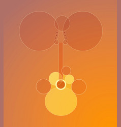 Acoustic guitar in abstract style vector