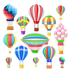 air balloon cartoon air-balloon or aerostat vector image