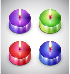 Aroma candle icons vector image