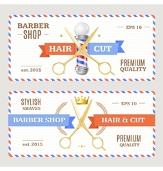 Barber Shop Banners Flyers Card vector