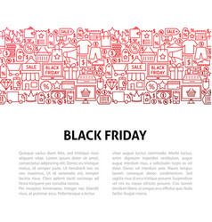 black friday line design template vector image