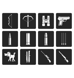 Black Hunting and arms Icons vector