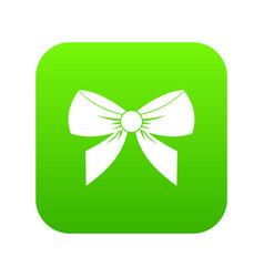 bow icon digital green vector image