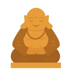 Buddha religion statue thailand meditation culture vector