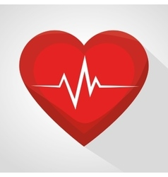 Cardiology care design vector