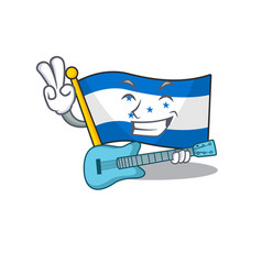 Cartoon flag honduras isolated in character with vector