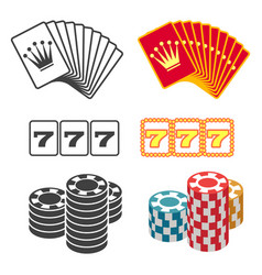 casino design black and colorful playing cards vector image