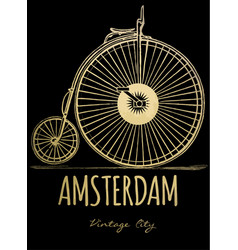 city background amsterdam vector image