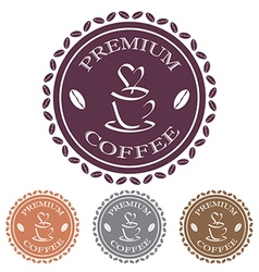 Coffee label stamp design element vector