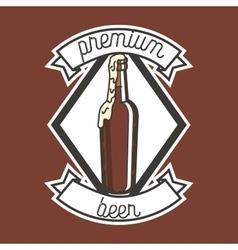 Color vintage beer brewery emblem vector