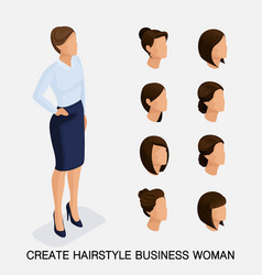 Create your isometric womens hairstyles vector
