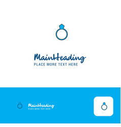creative ring logo design flat color logo place vector image