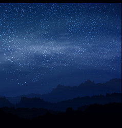 dark elegant sky with royal stars in night royal vector image