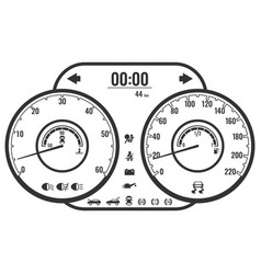 Dashboard instrument control panel or fascia in vector