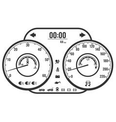 Dashboard instrument control panel or fascia vector
