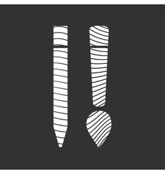 Design Flat Icon vector image
