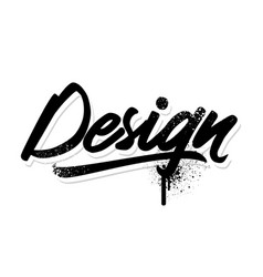design lettering vector image