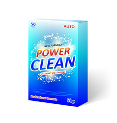 Detergent powder packaging box design product vector