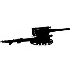 field gun silhouette vector image