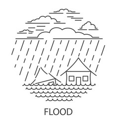 flood natural disaster vector image