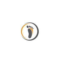 foot therapist logo vector image