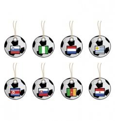 Football flag tags vector