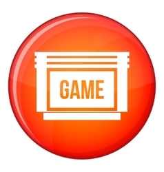 Game cartridge icon flat style vector