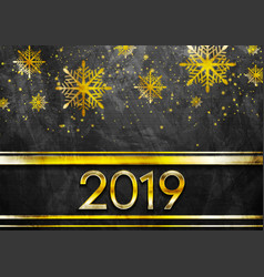 golden luxury 2019 new year grunge abstract vector image
