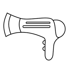 Hairdryer icon outline style vector image