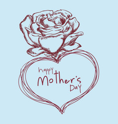 happy mothers day flower cute sketch vector image