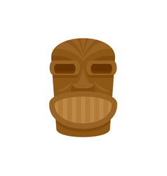 Hawaii wooden idol icon flat style vector