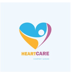 HealthcareMedical symbol with heart shape vector
